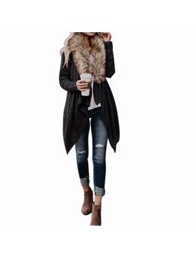 edacb2b3b0c8e Product Image Womens Long Oversized Loose Knitted Cardigan Outwear Coat  Faux Fur Long Sleeve Overcoat Jacket Winter