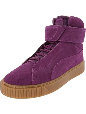 Puma Women's Platform Mid Ow Dark Purple / High-Top Fashion Sneaker - 5.5M