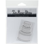 Two Paper Divas Clear Stamps 6 Inch X 4.5 Inch-Fancy Cake