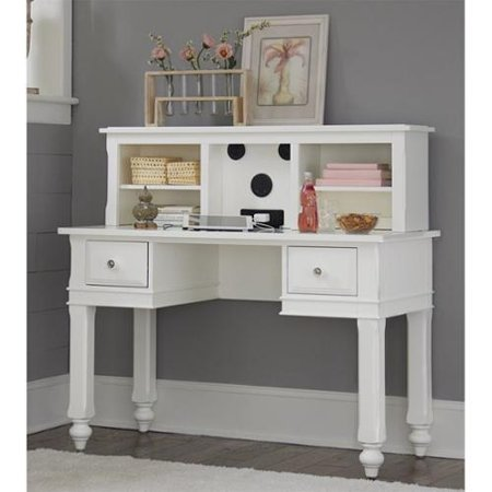 ne kids lake house writing desk with hutch in white