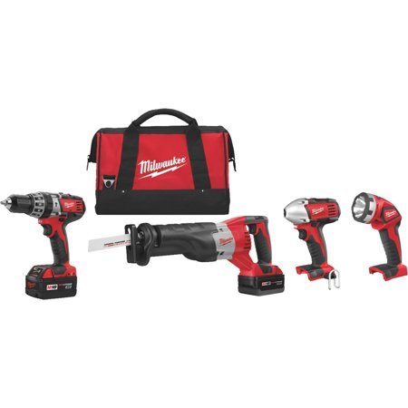 Milwaukee M18 Lithium-Ion 4-Tool Cordless Tool Combo Kit