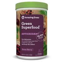 Amazing grass antioxidant green superfood powder, sweet berry, 60 servings