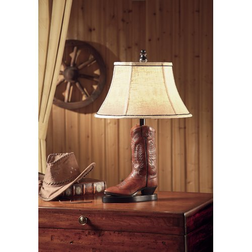 Stetson 26.5-Inch Table Lamp, Brown
