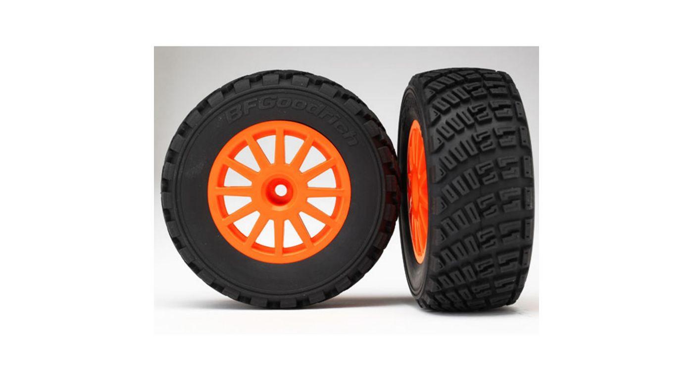 Traxxas Wheel, Org&Gravel Pattern Tires(2),Assm:1 10 Rally by TRAXXAS