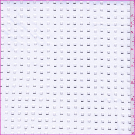 Optic White Laser Cut Pleather, Fabric By the Yard