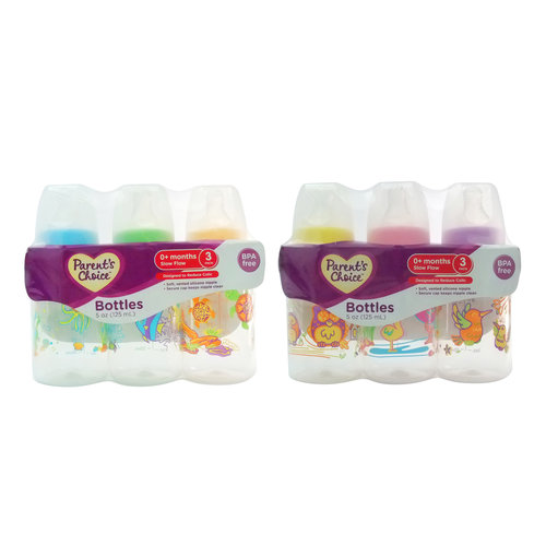 Parent's Choice Slow Flow 5 Oz Bottles, 3 count
