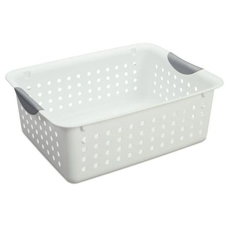 12) Sterilite 16248006 Medium Ultra Plastic Storage Bin Organizer Basket -