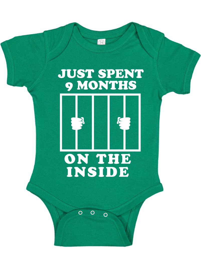 Witty Fashions I Just Did 9 Months on The Inside Infant Baby Bodysuit Funny Novelty Gift for Baby Shower