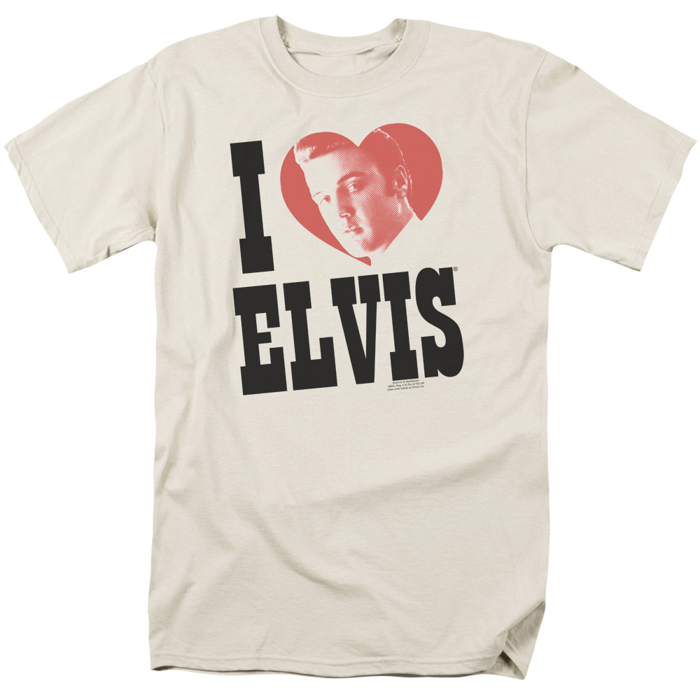 Trevco Elvis/I Heart Elvis   S/S Adult 18/1   Cream     E...