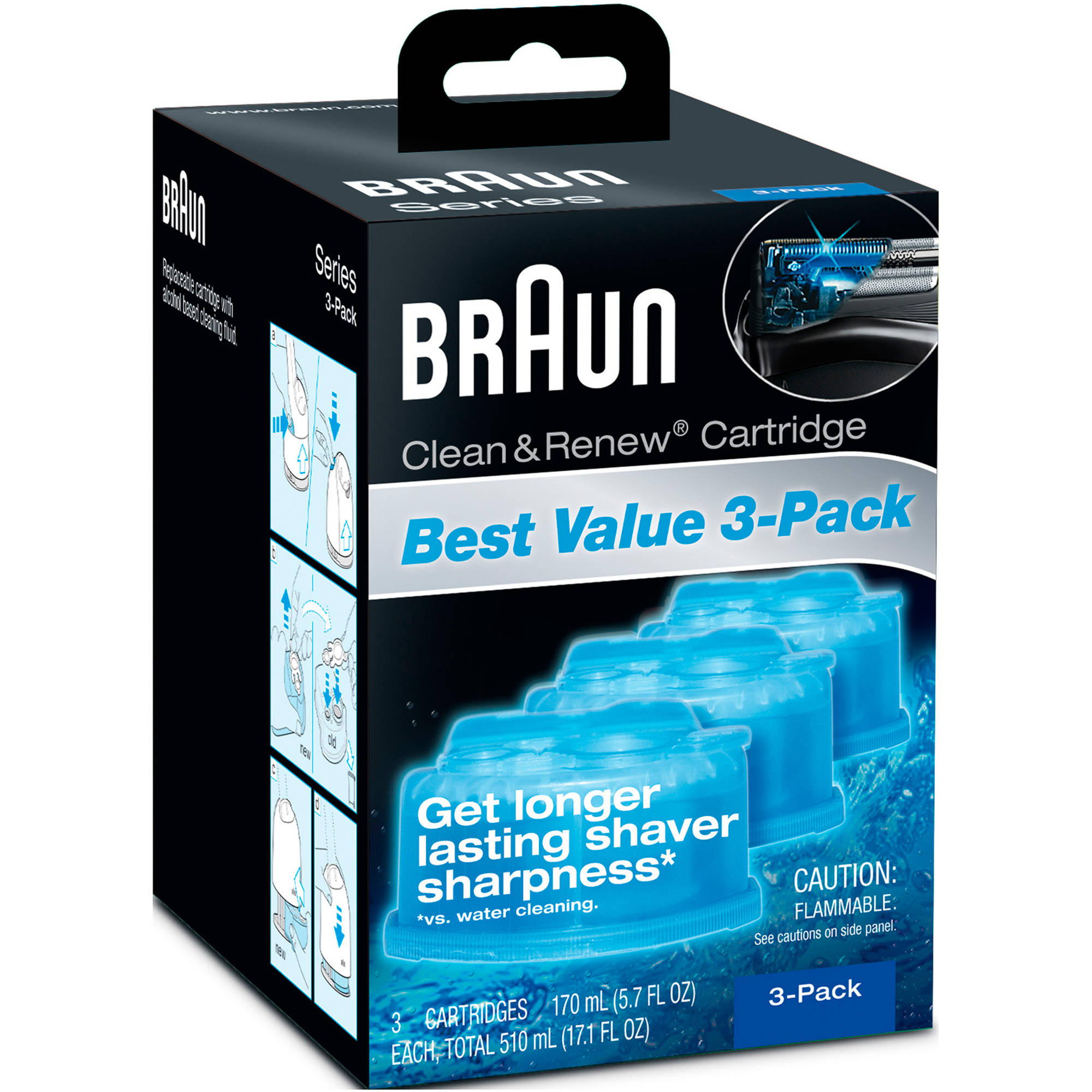 Braun Clean & Renew Refill Cartridges, 3 count