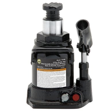 Omega 10129b black shorty hydraulic bottle jack, 12 ton capacity