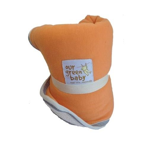 Organic Changing Pad Diaper Travel Changing Pad Orange Sherbert by our green baby