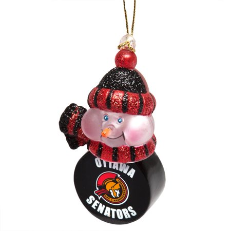 Ottawa Senators - Snowman Puck Christmas Light-Up Ornament