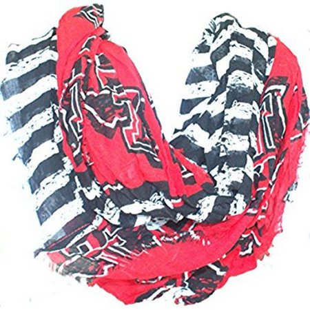NCAA Officially Licensed Texas Tech Red Raiders Striped Infinity Scarf