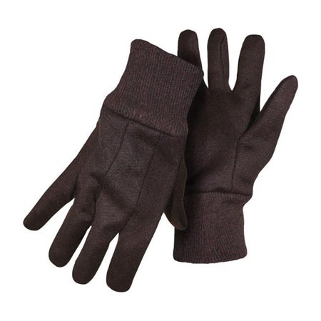 Boss Manufacturing 7798937 Mens Indoor & Outdoor Cotton Polyester Jersey Brown Work Glove, Small - Pack of
