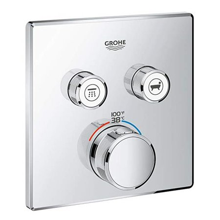 Grohe 29141000 Thermostatic Trim with Module Smart Control Dual Function, Starlight Chrome - image 1 of 1