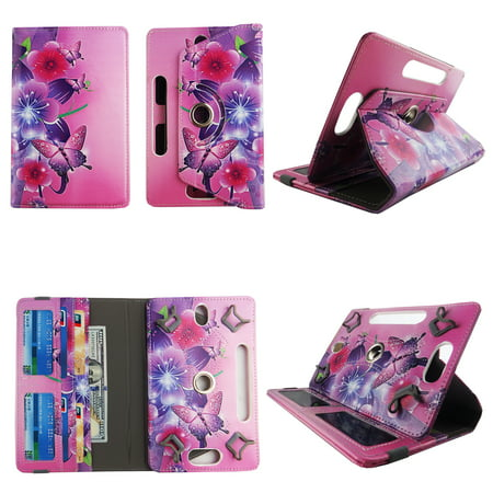 Flower Butterfly Pink tablet case 7 inch for LG G Pad LTE 7