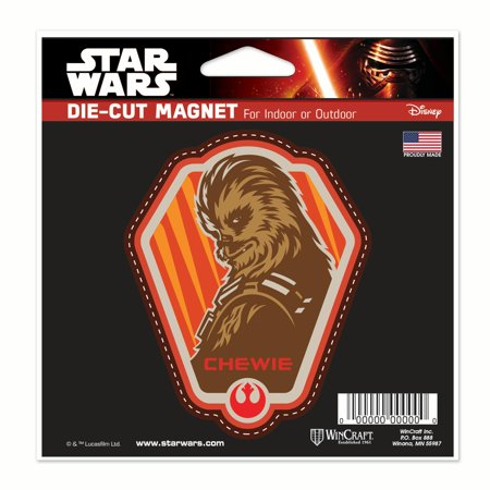 Star Wars Chewie Car Refrigerator Magnet 5x5 by Wincraft 629739