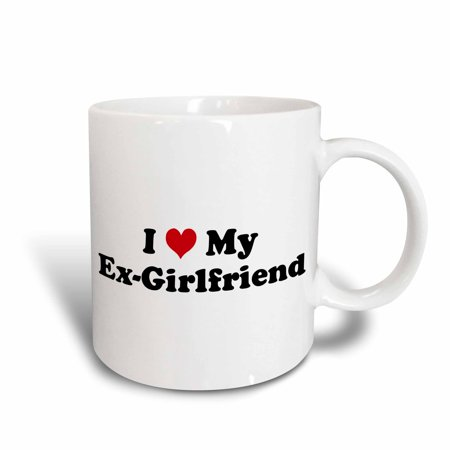 3dRose I Love My Ex Girlfriend, Ceramic Mug, 11-ounce