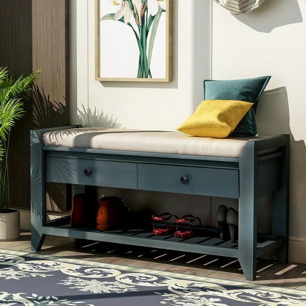 Storage Bench Footstool, Living Room Bench Storage