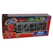 Disney Cars Movie Mack Transporter w/ 3 Cars Supercharged Set - (Lightning McQueen, Chick Hicks & Leakless)