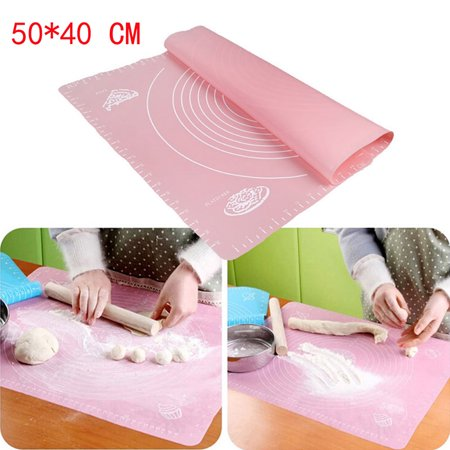 - Outtop Silicone Baking Cake Dough Fondant Rolling Kneading Mat Scale Table Grill Pad