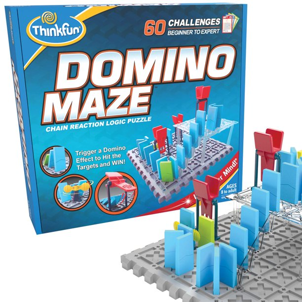 ThinkFun Domino Maze STEM Toy and Logic Game for Boys and Girls Age 8 and Up - Combines the Fun of Dominos With the Challenge of a Puzzle