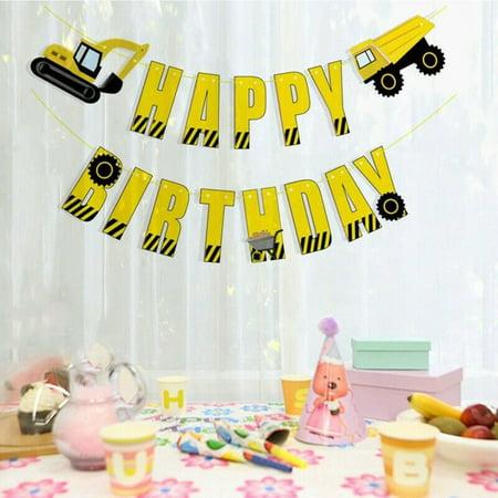 KABOER Excavator Aluminum Film Sequins Confetti Balloon Boy Theme Birthday Party Decor](Boy Themed Party)