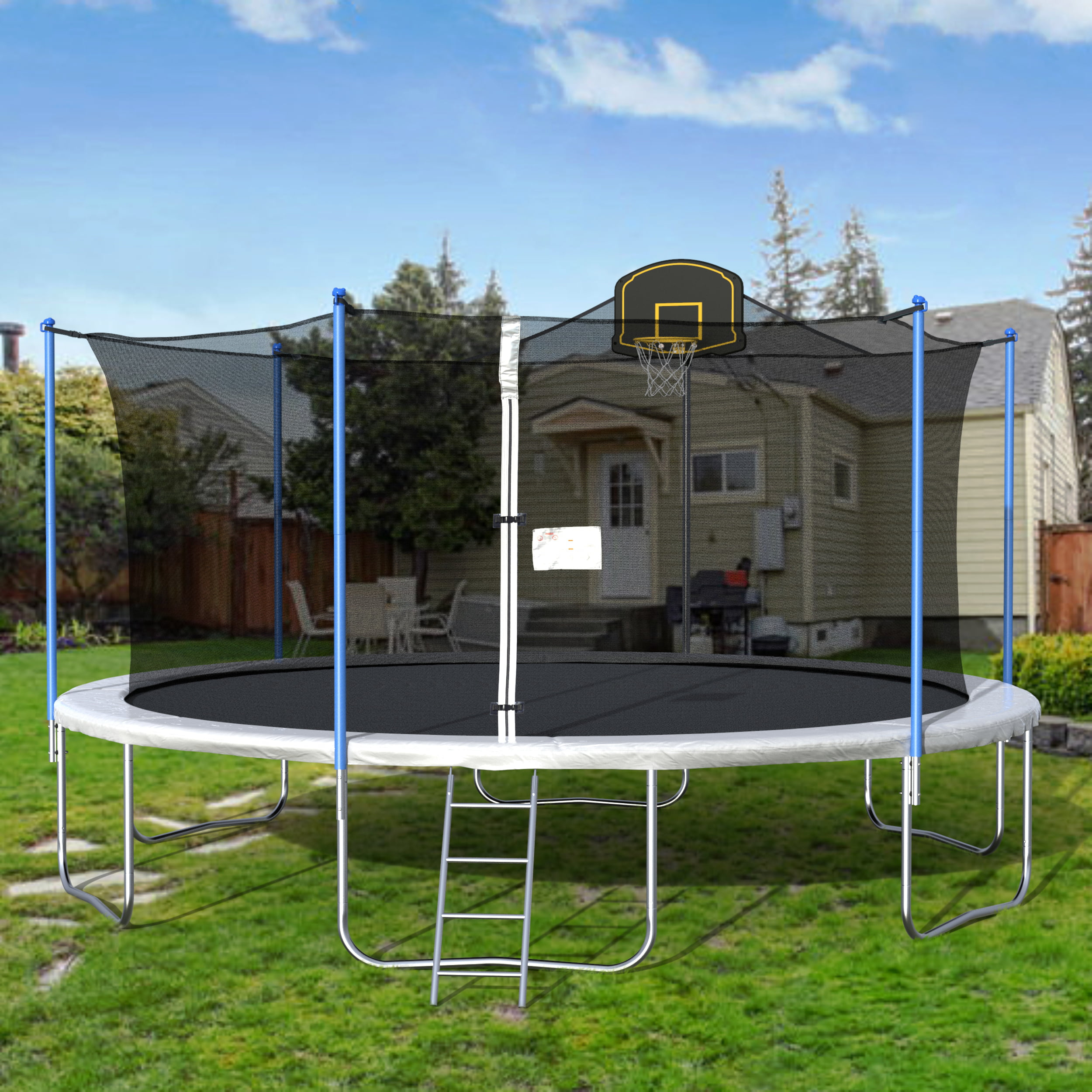 2020 New 16-Foot Trampoline, Kids Trampoline With Safety