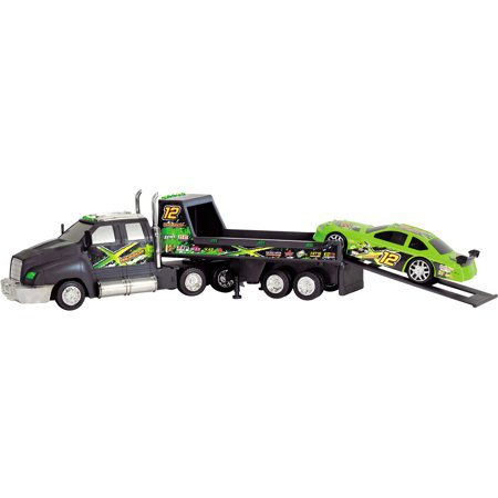Dickie Toys Majorette Racing Transporter with Race -