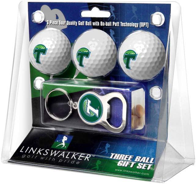 LinksWalker Tulane Keychain Bottle Opener 3 Ball Gift Pack