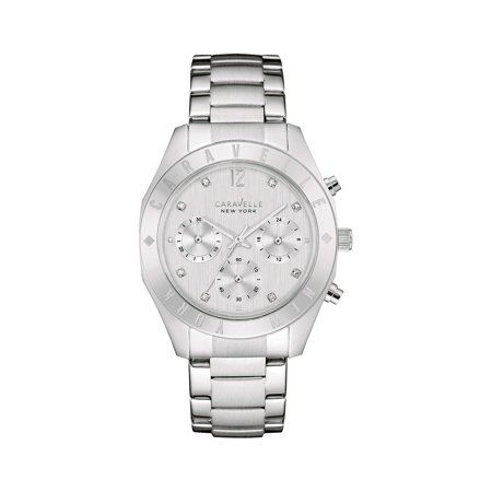 Caravelle Designed By Bulova Women's Stainless Steel Crystal Watch