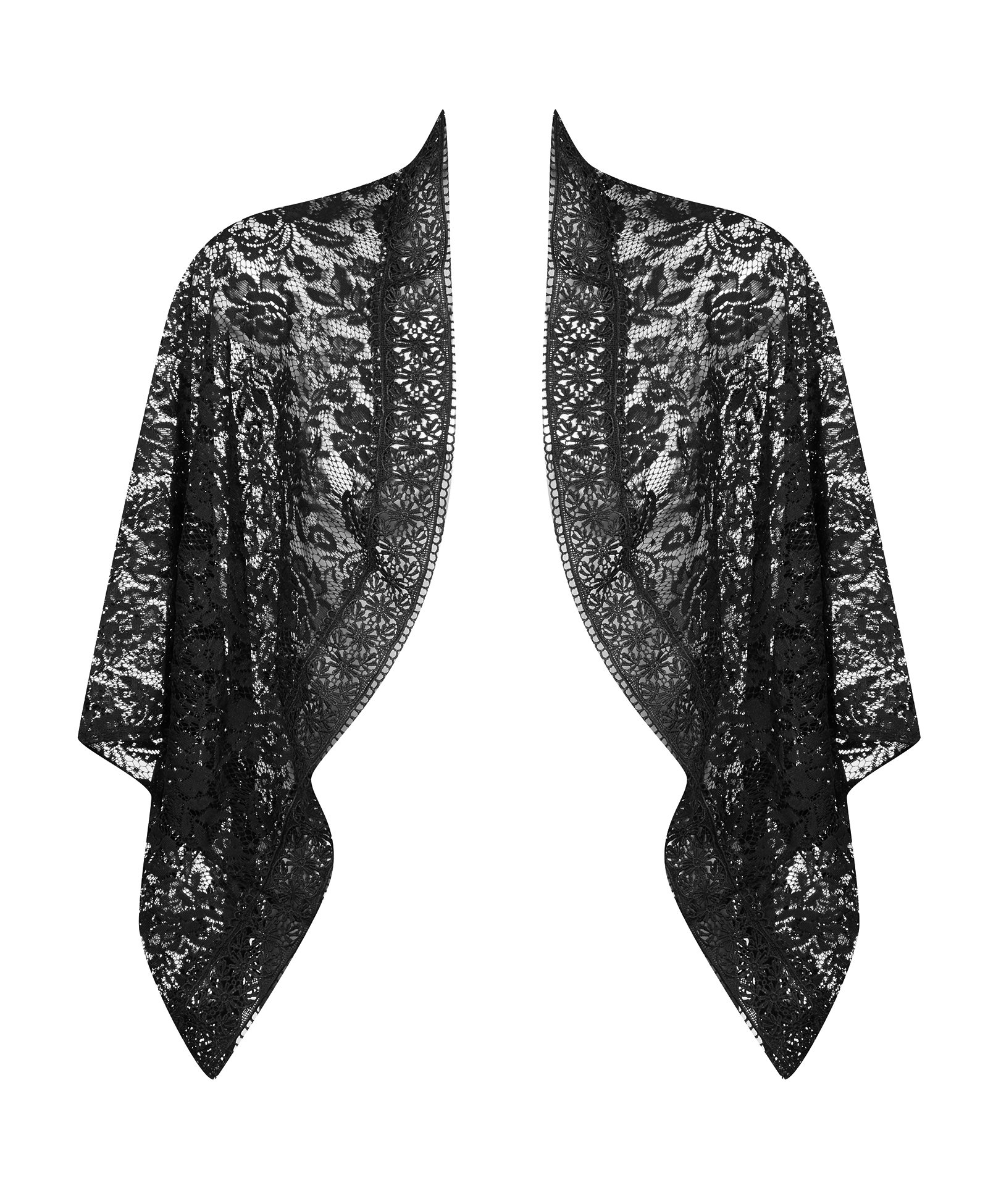 Extra Touch Women's Plus Mixed Lace Cocoon Cardigan