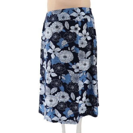 Denim & Co Petite Floral Print Maxi Skirt A292500 (Petite Taffeta Skirt)