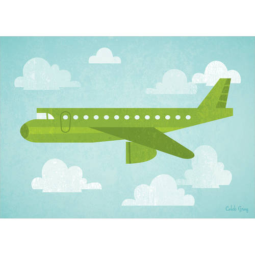 Oopsy Daisy - Airborne - Airliner Canvas Wall Art 14x10, Caleb Gray