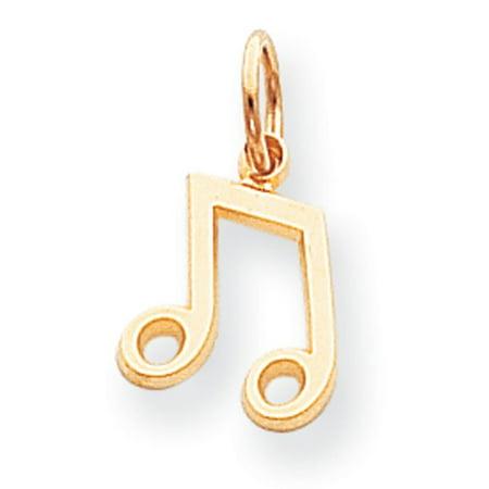 10k Musical Note Charm (High School Musical Charm)