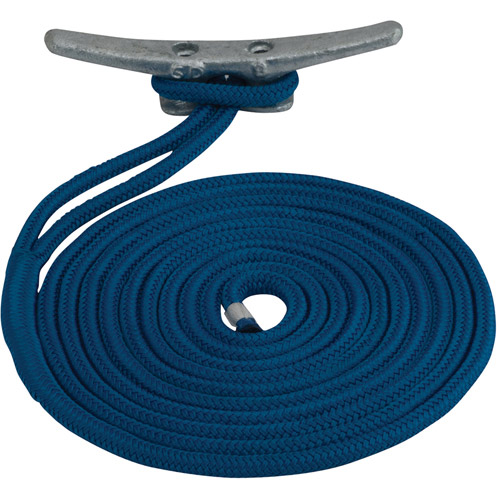 "Sea Dog Dock Line, Double Braided Nylon, 3 8"" x 20', Blue by Sea Dog"