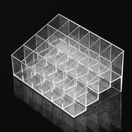2017 Hot 24 Trapezoid Clear Makeup Display Lipstick Stand Case Cosmetic Organizer Case