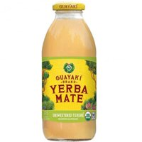 Guayaki Yerba Mate, Tea Iced Mate Unsweetened, 16 Fluid Ounce (Pack of 12)
