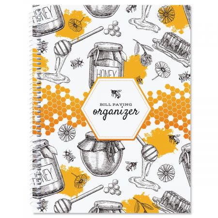 Oh Sweet Honey Bill Paying Organizer- Softcover; Includes 14 Pocket Pages, 32 Label Stickers (Bill Pocket Organizer)