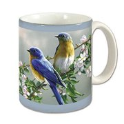 Counter Art CART60280 Beautiful Songbirds Mug, 11 oz