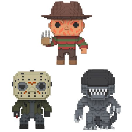 Funko 8-Bit POP! - Horror Series Vinyl Figures - SET OF 3 (Freddy, Jason & Alien)](Freddy Chest Of Souls)