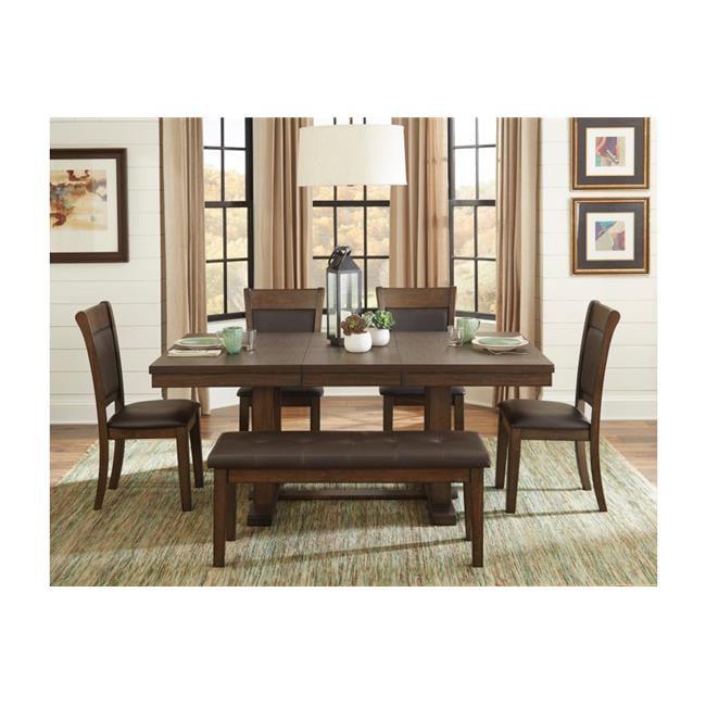 30 X 72 X 42 In Wieland Dining Table With Butterfly Leaf Rustic Dark Brown Walmart Com Walmart Com