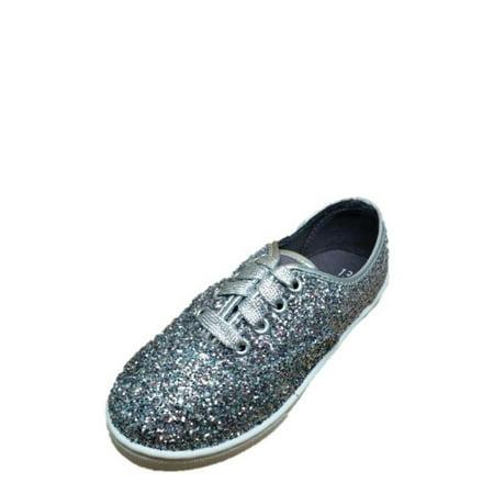 wonder nation girls' sparkle canvas casual shoe  walmart