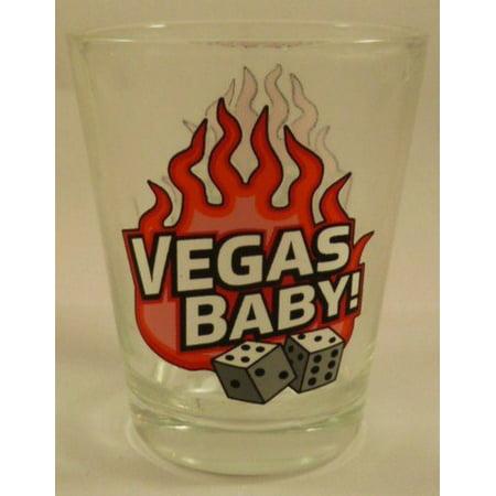 - Las Vegas Nevada Vegas Baby w/Dice Clear Shot Glass ctm