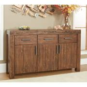Modus Meadow 3-Door 3 Drawer Solid Wood Sideboard - Brick Brown