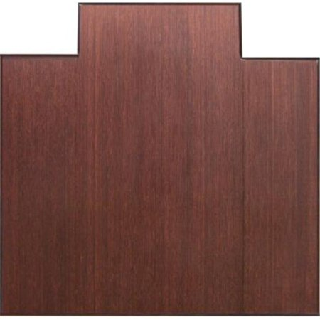 Anji Mountain Bamboo Rug Co  AMB0500-1009 47 Inch x 60 Inch DARK CHERRY  Bamboo Tri-Fold Office Chair Mat *w-tongue-12mm thick-natural rubber  backing*