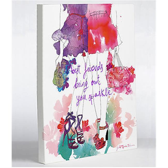 One Bella Casa 72968WD16 16 x 20 in. Summer Legs Canvas Wall Decor by Judit Garcia Talvera - White & Multi Color - image 1 de 1
