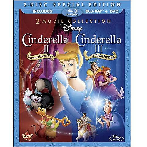Cinderella II: Dreams Come True / Cinderella III: A Twist In Time (Special Edition 2-Movie Collection) (Blu-ray + 2-Disc DVD) (Widescreen)