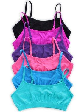 Caramel Cantina 6 Pack Girls Seamless Training Bra with Adjustable Straps
